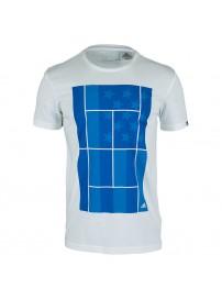 AA4223 Adidas Us Open Tennis Tee (white)