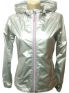 104435-354 Champion Γυναικείο Μπουφάν Αντιανεμικό Χρώμα  Γκρι γυαλιστερό