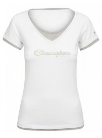 105821 006 Champion Crewneck Women's t-shirt (white)