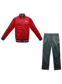 160087 45030 Diadora Polyester Suit (tomato red/grey)