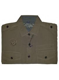 GS-127S Double Ανδρικό πουκάμισο με μακρύ μανίκι Χρώμα Χακί
