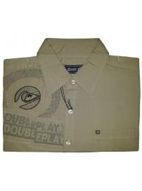 GS-128S Double Ανδρικό πουκάμισο με μακρύ μανίκι Χρώμα Λαδί