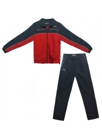 301H0G0 Kappa woven tracksuit (dark grey/red/white-976)