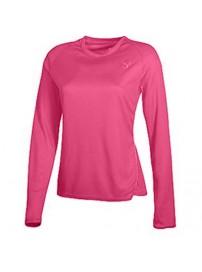 504785 01 Puma T/S LS Tee (pink)
