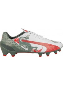 103304 01 Puma Evospeed 1.3 Graphic FG (white/sea pine/high risk red)