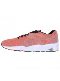 360801 12 Puma R698 Knit Mesh V2 (fluropeach/ grey violet/black)
