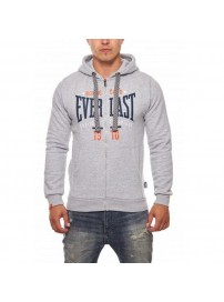 EVR9322 01 Everlast GM 1910 Big Logo Hooded Zip Sweater (grey)