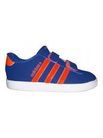 F98612 Adidas VLCourt CM INF (royal/orange/white)