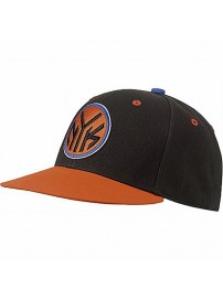 F77541 Adidas NBA Fitted NYK (black/orasld/blusld)