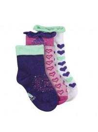 O05596 Adidas T Adigirl Παιδικές κάλτσες 3 ζευγάρια