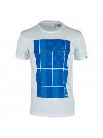 AA4223 Adidas Us Open Tennis Tee (white)