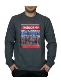 F48024 Adidas NYC Finest Crew Χρώμα Γκρι