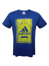 F91265 Adidas QQRPoster Tee (blue bea)