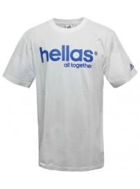 X25758 Adidas Hellas Alltogether Tee-Shirt GreGr (white/satelite)