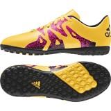S74611 Adidas X15.4 TF J (sogold/cblack/shock pink)
