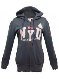 104210 3307 Champion NYU Hooded Sweatshirt