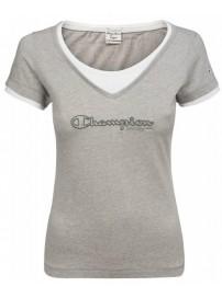 105821 357 Champion Crewneck Women's t-shirt (gray)