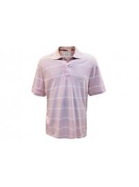 205580 1748 Champion Ανδρική μπλούζα πόλο ριγιέ Χρώμα Φουξ