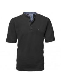 PS-265VA  Polo Pique Mao Collar (Black)