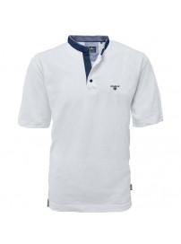 PS-265VA  Polo Pique Mao Collar (White)