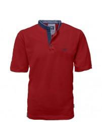 PS-265VA  Polo Pique Mao Collar (Red)