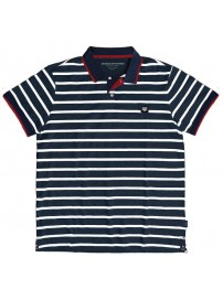 PS-245S Double Polo Pique (blue/white)