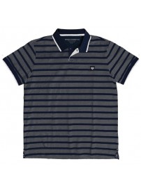 PS-245S Double Polo Pique (grey/blue)
