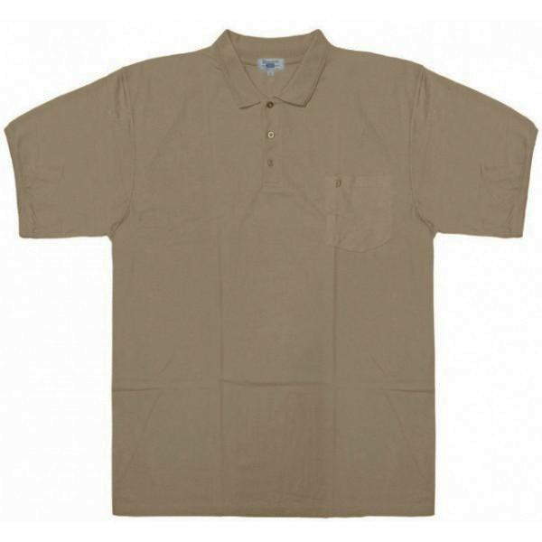 97ba33cb5f5d GS-31SVA 09 Double μπλουζάκι πόλο κοντομάνικο (μεγάλα μεγέθη) Χρώμα Μπεζ