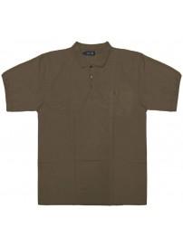 GS-31SVA 10 Double μπλουζάκι πόλο κοντομάνικο (μεγάλα μεγέθη) Χρώμα Καφέ ανοιχτό