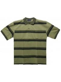 PS-200SA Double Ανδρική κοντομάνικη μπλούζα πόλο (μεγάλα μεγέθη) Χρώμα Χακί/Λαδί