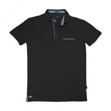 PS-224SA Double Polo Jersey (μεγάλα μεγέθη) (black)