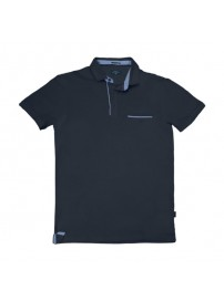 PS-224SVA Double Polo Jersey (μεγάλα μεγέθη) (navy)