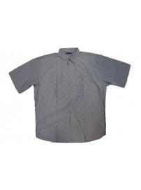 GS-119SVA 13 Double Ανδρικό πουκάμισο ριγέ (Μεγάλα μεγέθη) Χρώμα Μπλε/Άσπρο