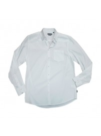 GS-10A Double Ανδρικό κλασικό πουκάμισο (μεγάλα μεγέθη) Χρώμα Λευκό