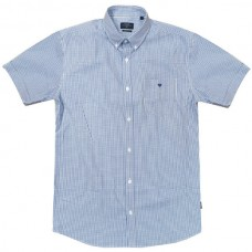 GS-476S Double Shirt Classic Line Χρώμα Γαλάζιο/Άσπρο
