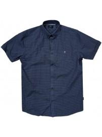 GS-476S Double Shirt Classic Line Χρώμα Σκούρο Μπλε/Άσπρο
