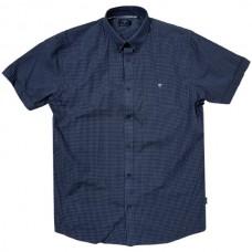 GS-476SVA Double Shirt Classic Line (μεγάλα μεγέθη) Χρώμα Σκούρο Μπλε/Άσπρο