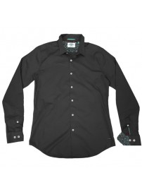 GS-482S Double Shirt Slim Line Χρώμα Μαύρο