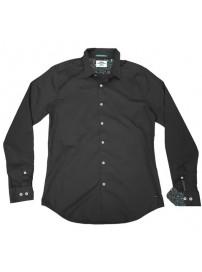 GS-482SA Double Shirt Slim Line (μεγάλα μεγέθη) Χρώμα Μαύρο