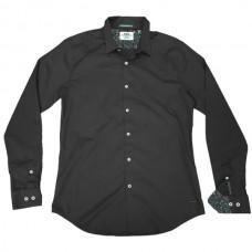 GS-482SVA Double Shirt Slim Line (μεγάλα μεγέθη) Χρώμα Μαύρο