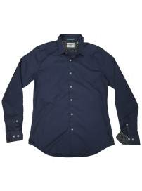 GS-482S Double Shirt Slim Line Χρώμα Μπλε
