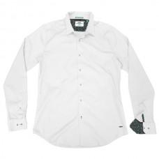 GS-482SA Double Shirt Slim Line (μεγάλα μεγέθη) Χρώμα Άσπρο