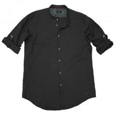 GS-483S Double Shirt Mao Collar Slim Line Χρώμα Μαύρο