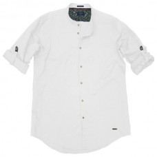GS-483S Double Shirt Mao Collar Slim Line Χρώμα Άσπρο