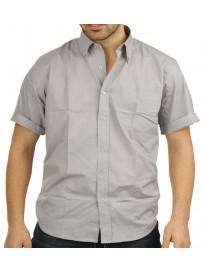 GS-4SA 13 Double Ανδρικό κοντομάνικο πουκάμισο (μεγάλα μεγέθη) Χρώμα Γκρι