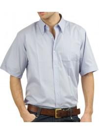 GS-4SA Double Ανδρικό κοντομάνικο πουκάμισο Χρώμα Μπεζ ανοικτό