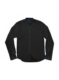 GS-504VA Double Slim Line Shirt Mao Collar (μεγάλα μεγέθη)(black)