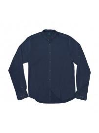 GS-504VA Double Slim Line Shirt Mao Collar (μεγάλα μεγέθη)(navy)