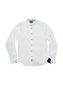 GS-504 Double Slim Line Shirt Mao Collar (white)