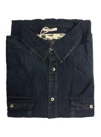 DS-5A Double Ανδρικό πουκάμισο jean (μεγάλα μεγέθη)